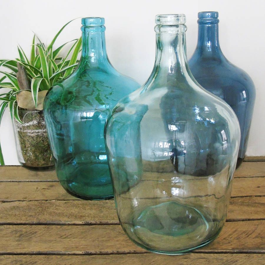 Large Glass Bottle Vase Recycled Glass Bottles Recycled Glass