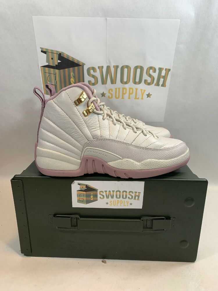 6268a99b25ee0d Nike Air Jordan XII 12 Retro GS HEIRESS PLUM FOG OFF WHITE BONE 845028-025  sz 6Y  Nike  Athletic