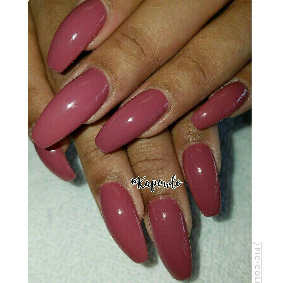 Beautiful long mauve pink and purple nails. Coffin nails. | nail art ...