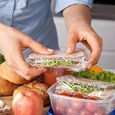 Saludables en llevar comidas tupper para