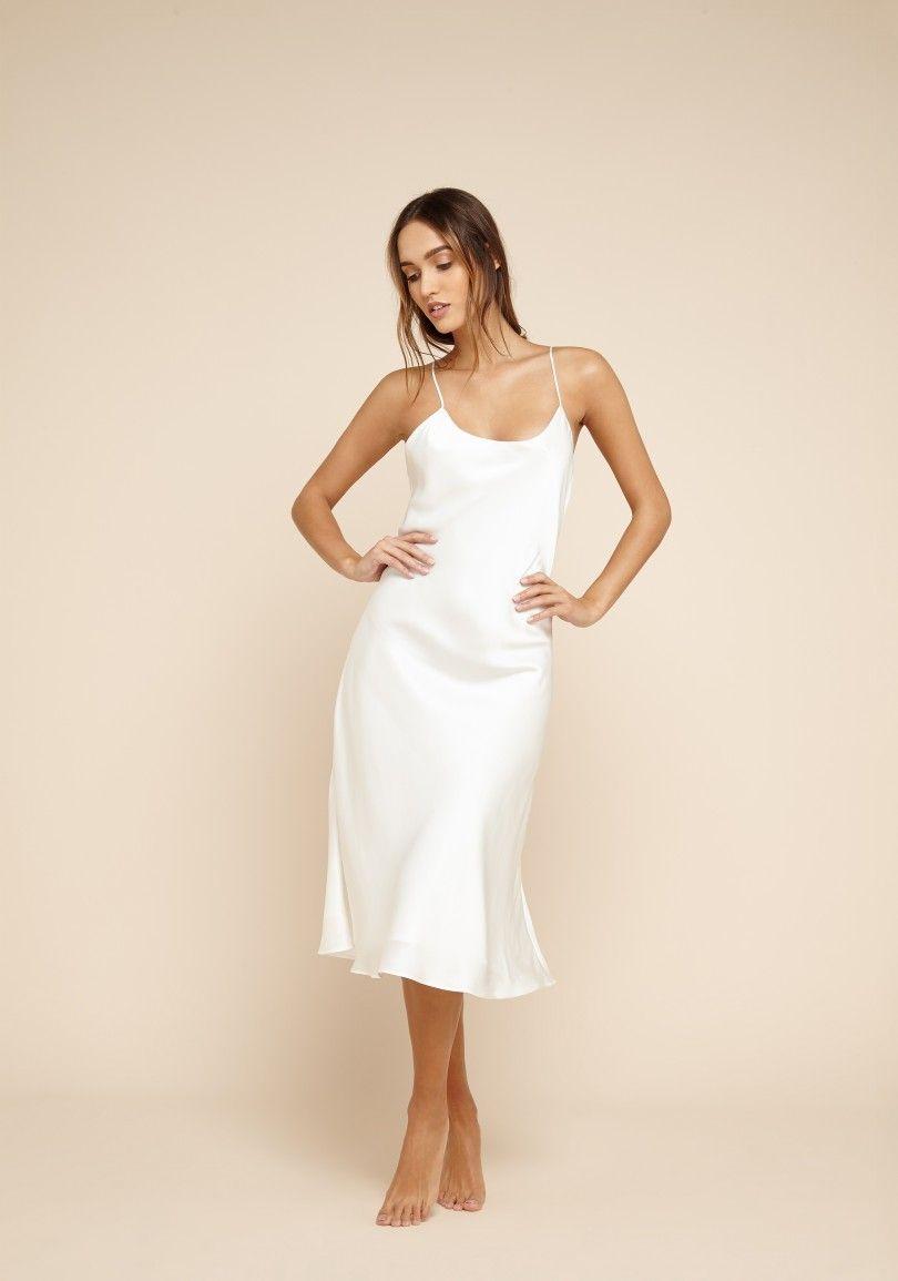 Remy Ivory Silk Nightdress Slip Wedding Dress Dresses