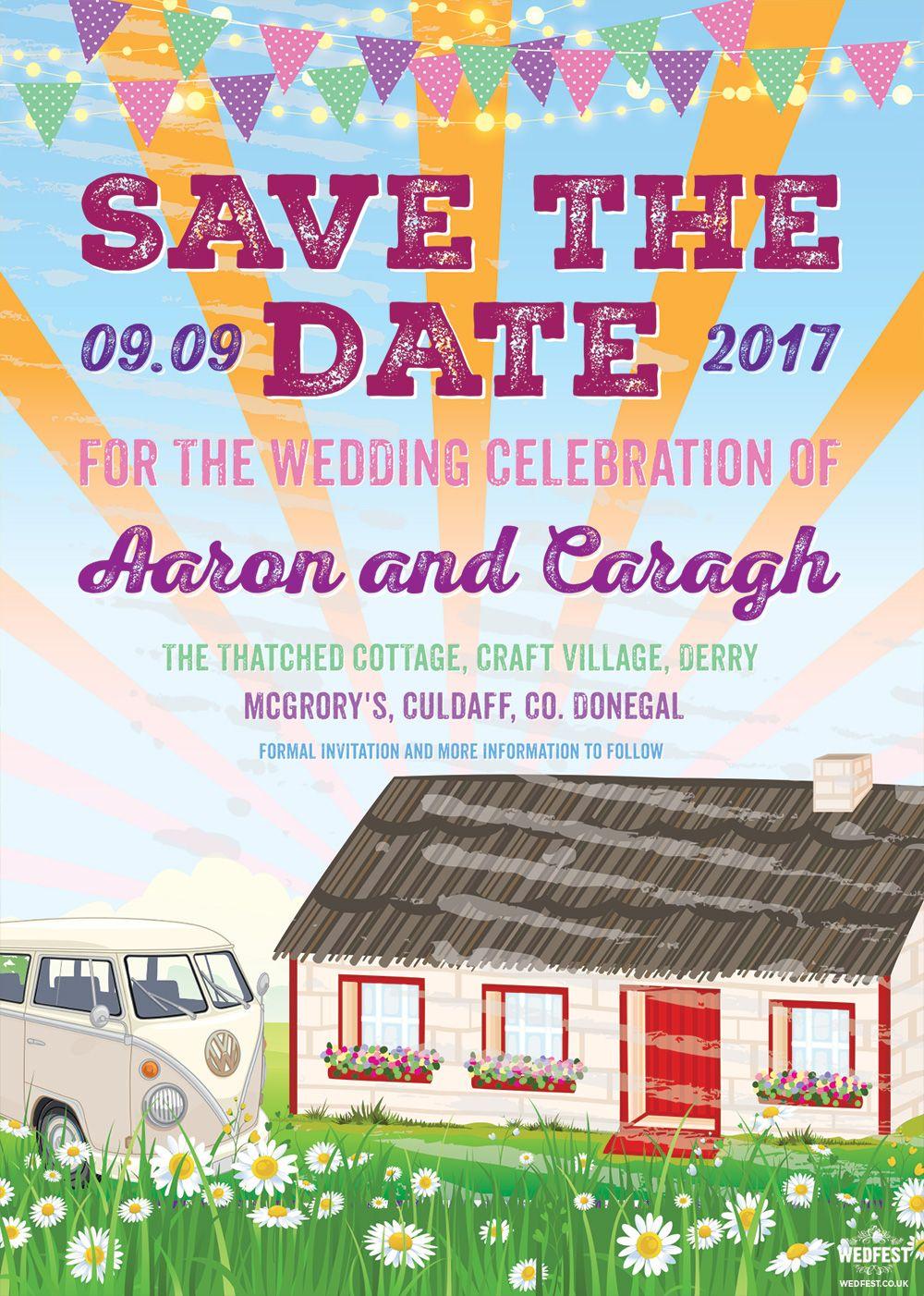 craft village derry festival wedding invitation save the date http ...