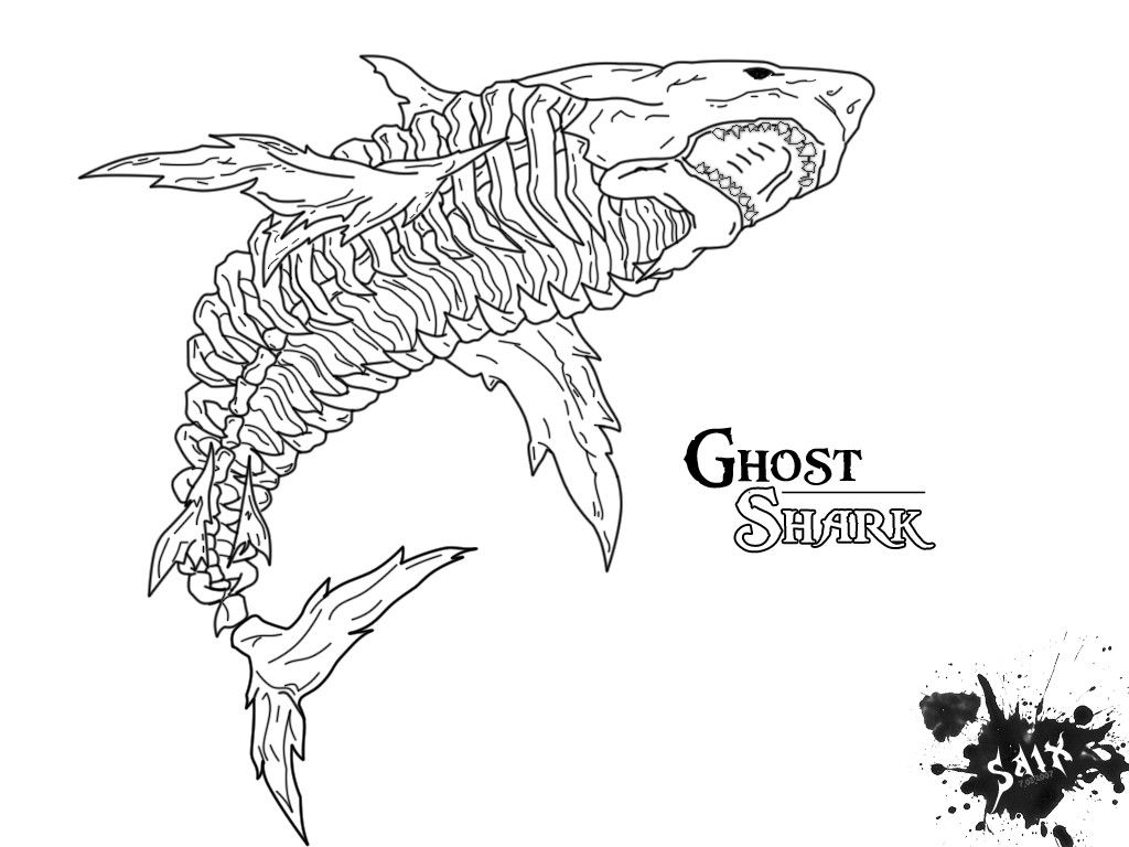 Pin By Alexander C On Tattoo Ideas Shark Coloring Pages Shark