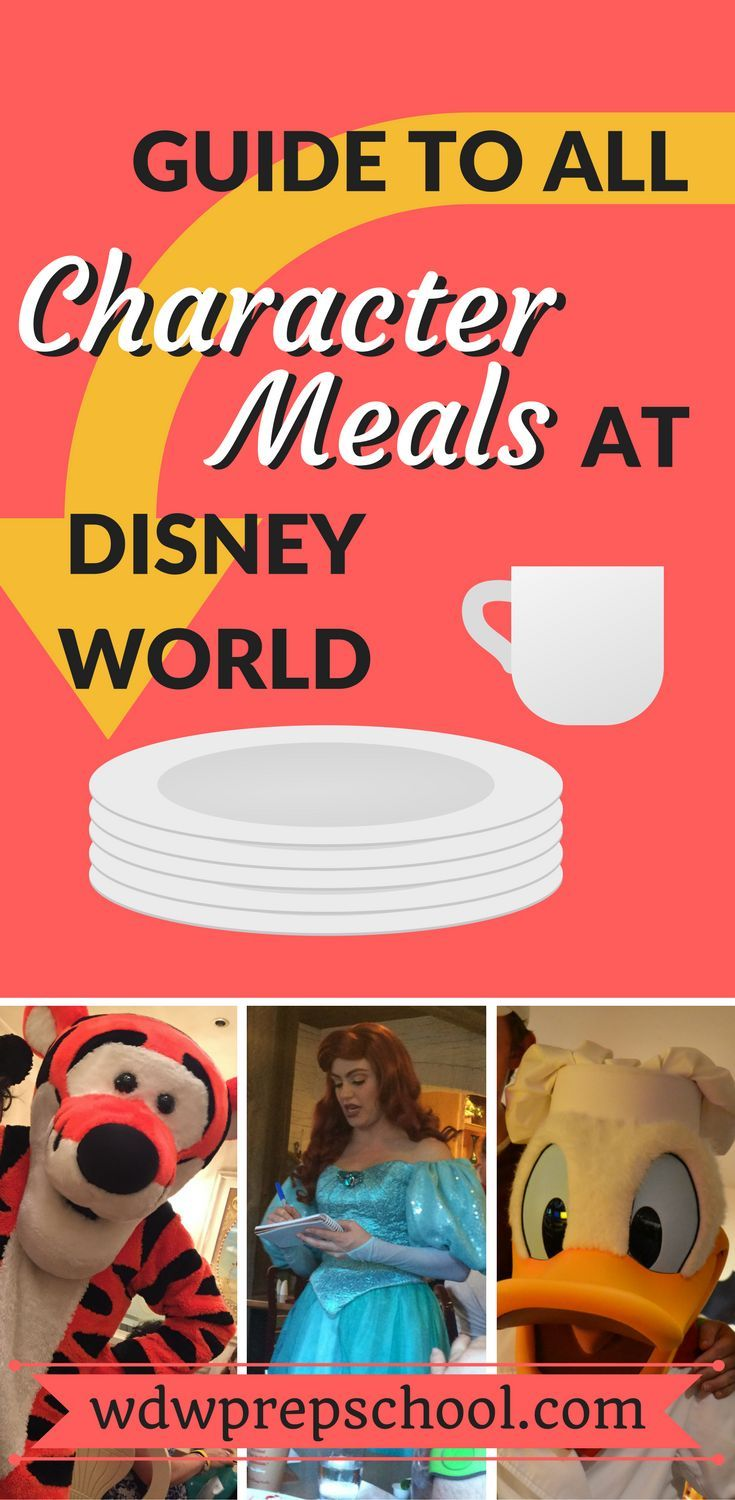 Guide to all character meals at Disney World #menus