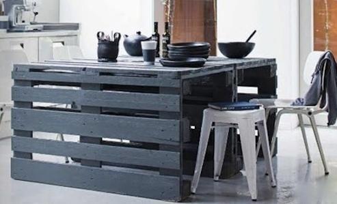 table de recup palette - Meubles En Palettes De Recup