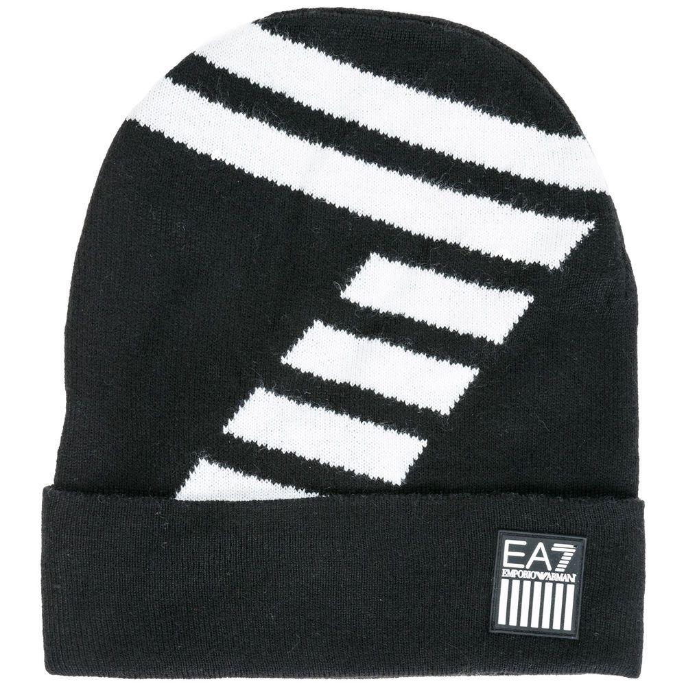 6349e4231ee eBay  Sponsored EMPORIO ARMANI EA7 MEN S BEANIE HAT NEW BLACK A71 ...