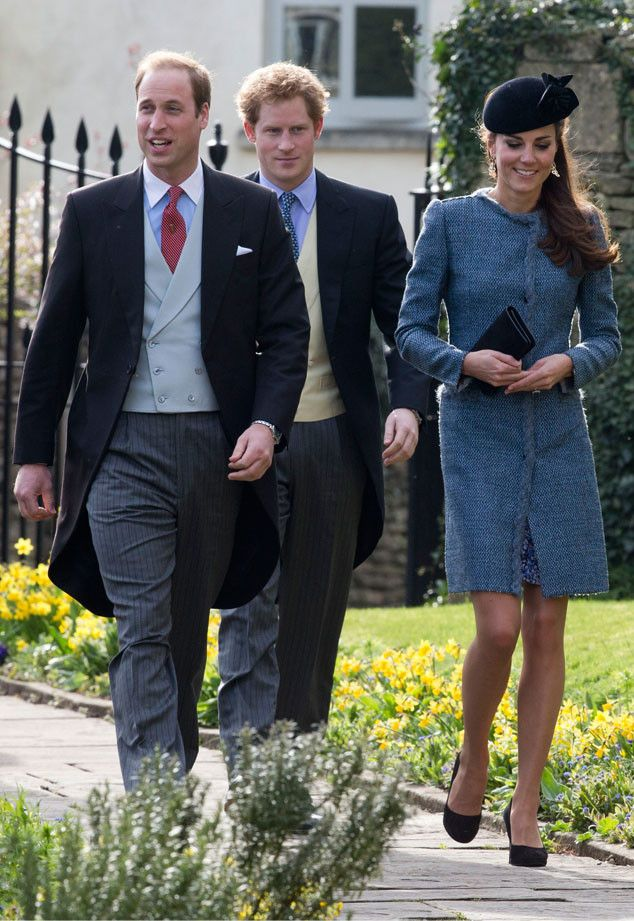 The Duke And Ss Of Cambridge Prince Harry Attend Wedding Close Friends With Kate Wearing A Blue Tweed Missoni Coat Whistles Bella Dress