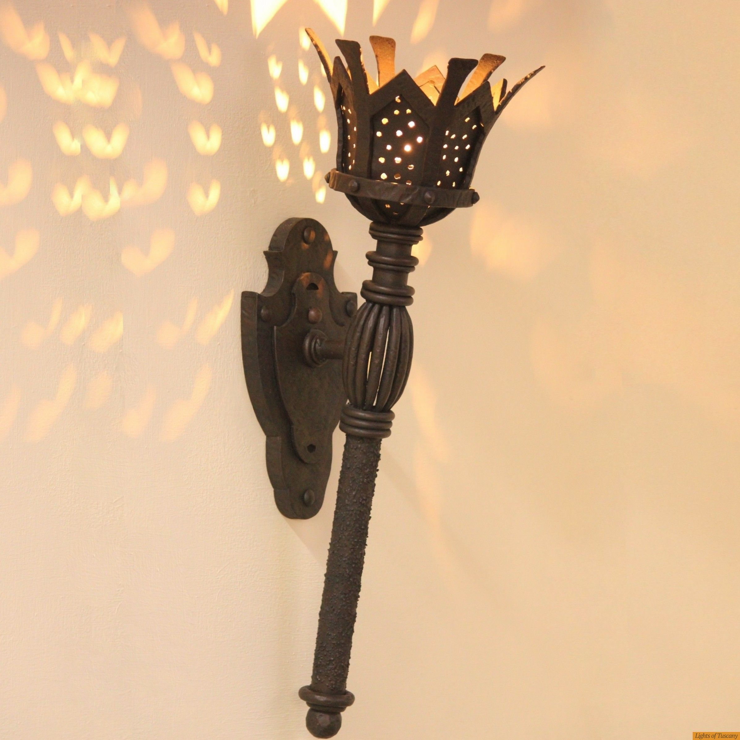 Lights of Tuscany 5246-1 Gothic Medieval Torch light - Gothic ...