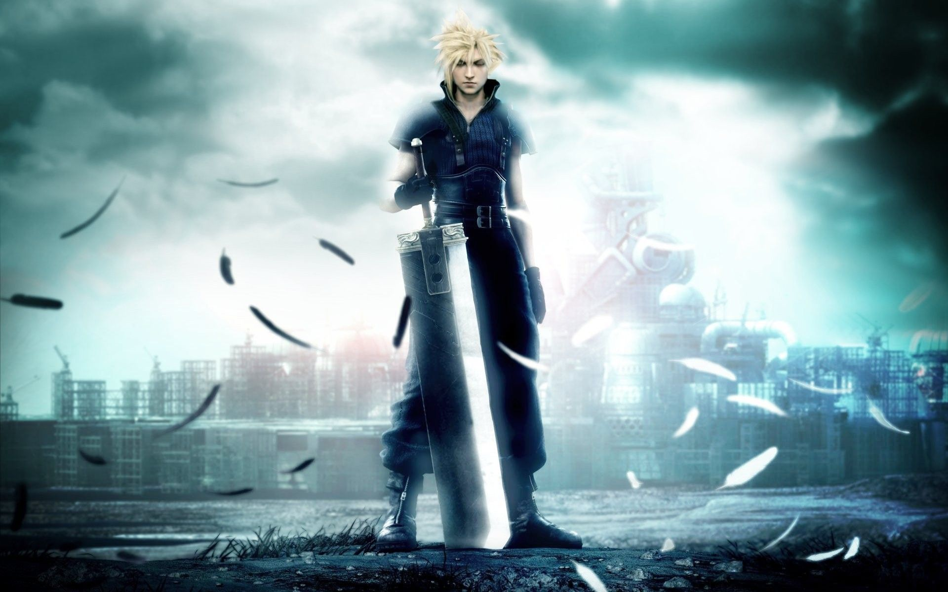 Final Fantasy Vii Cloud Strife Buster Sword Anime Final