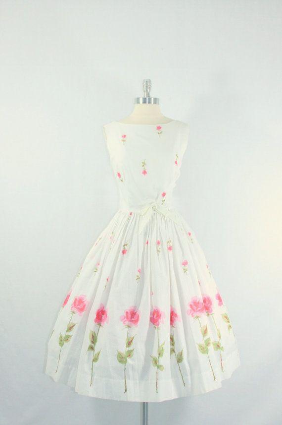 1950\'s Vintage Tulips Dress   Teen Dresses   Pinterest   Vestiditos ...