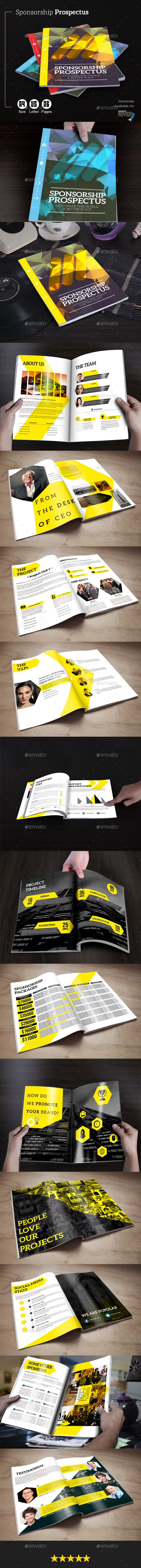 Sponsorship prospectus proposals template and layouts sponsorship prospectus template helps you get sponsors for your project or event it has been pronofoot35fo Images