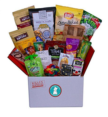 Brain  Grain Healthy Care Package  Medium Size Snacks and Treats for University Student Birthday or Final Exams New Hires Interns Office Breakroom Meetings New Clients *** Click image to review more details.
