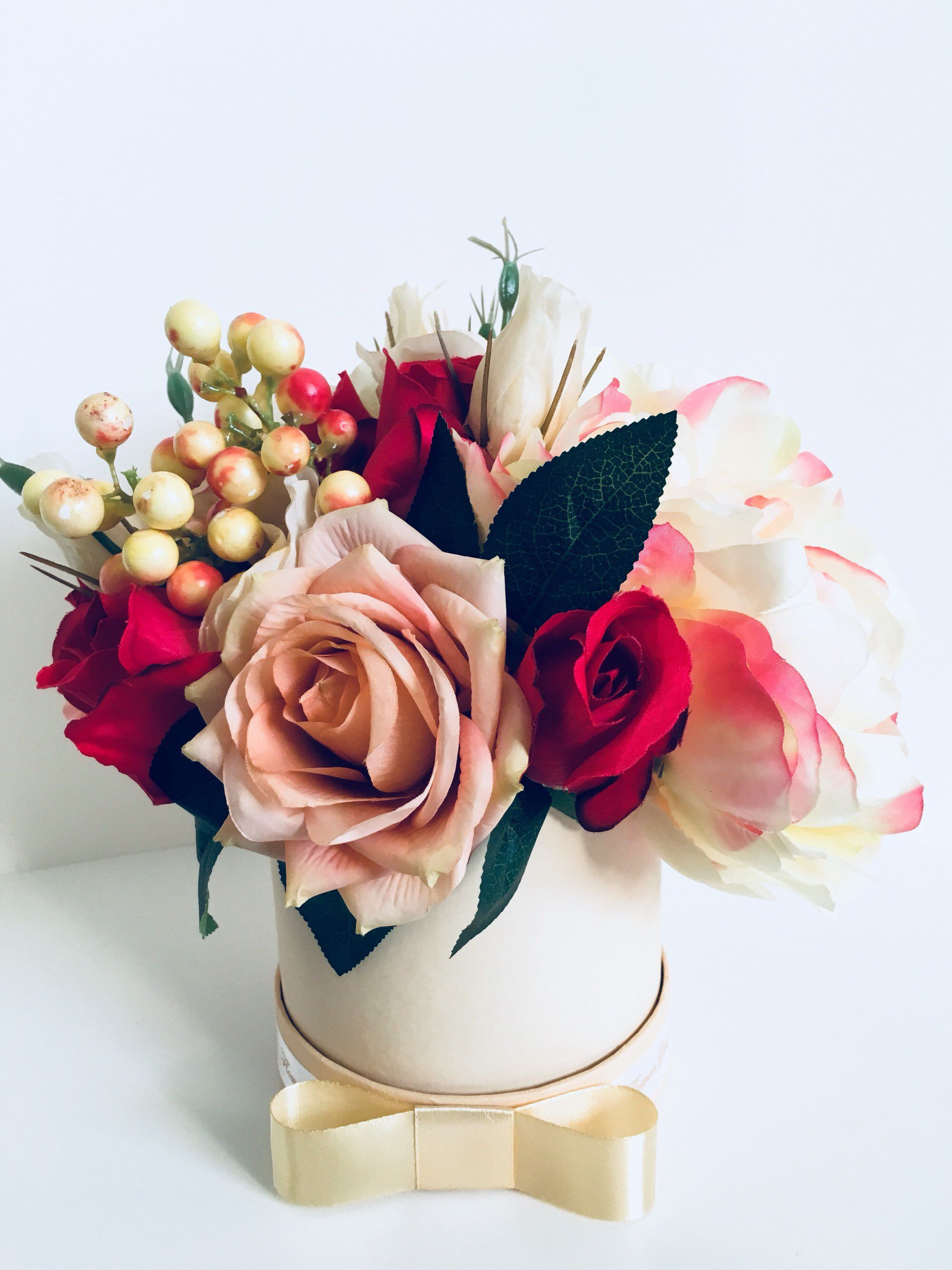 Artificial flowers red roses wedding birthday floral