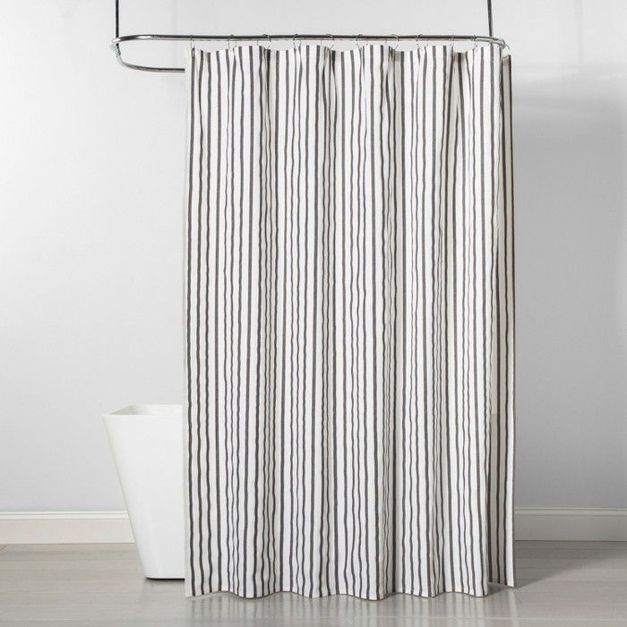 Stripe Shower Curtain Gray White Project 62 Striped Shower Curtains Gray Shower Curtains Cool Shower Curtains