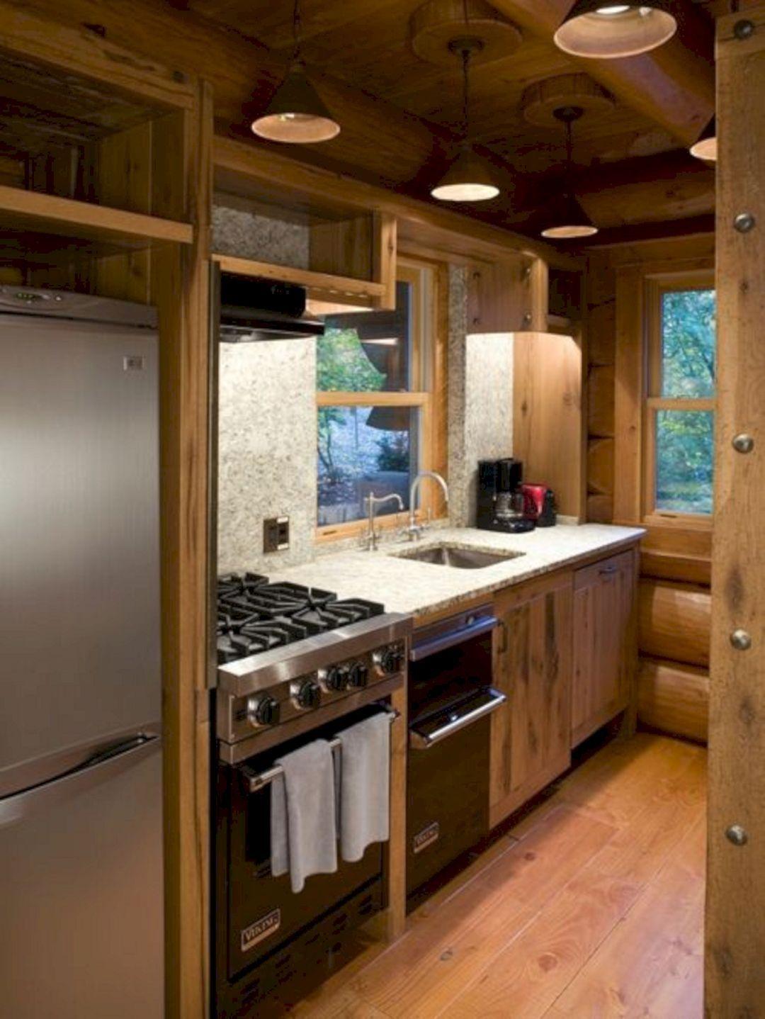 Small Log Cabin Kitchen Designs   Minimalist small kitchens, Small ...
