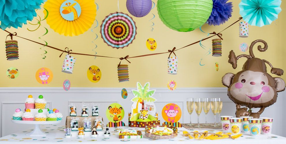 Exceptional Fisher Price Jungle Theme Baby Shower Part - 1: Fisher-Price Jungle Baby Shower Party Supplies