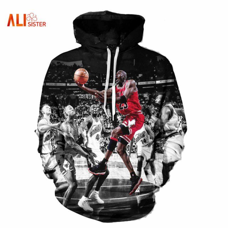 Basketball mens fashion long sleeve hoodie sweatshirt