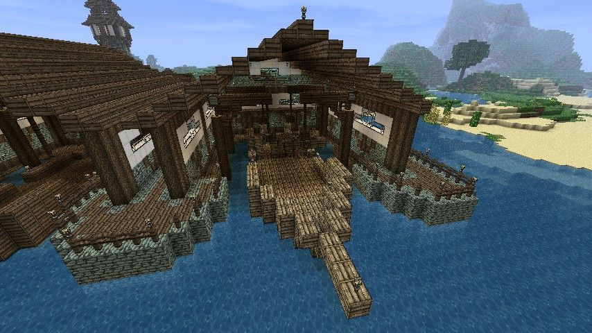 dock pier minecraft harbor ideas minecraft projects