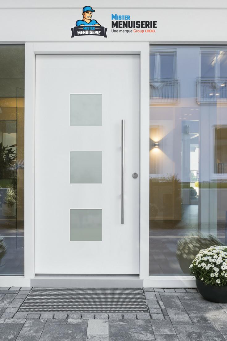 Porte De Maison Moderne inspiration entrée de maison classe et épurée, dans les tons blanc