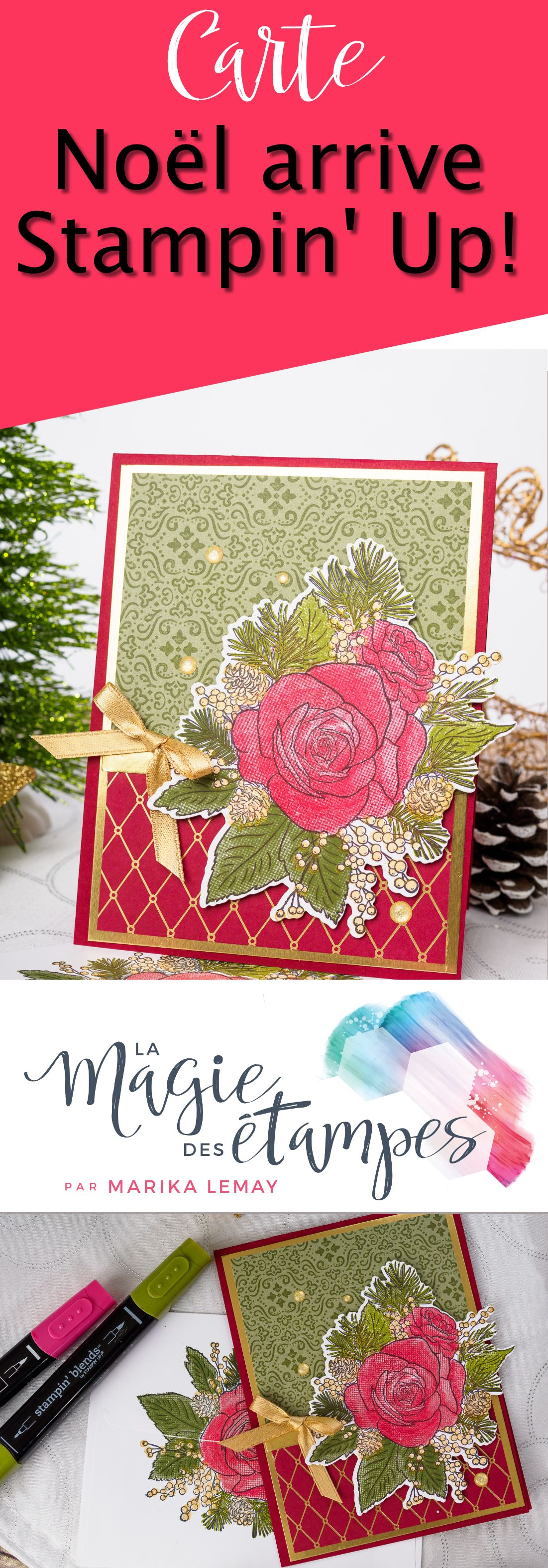Une vidéo, 3 cartes de Noël Stampin' Up! | Christmas cards, Cards