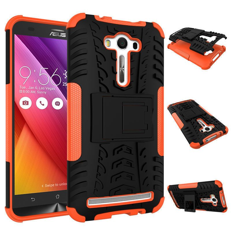 newest 34092 ad4b6 HeavyDuty Armor Kickstand Case Cover for Asus Zenfone 2 Laser 5.5 ...