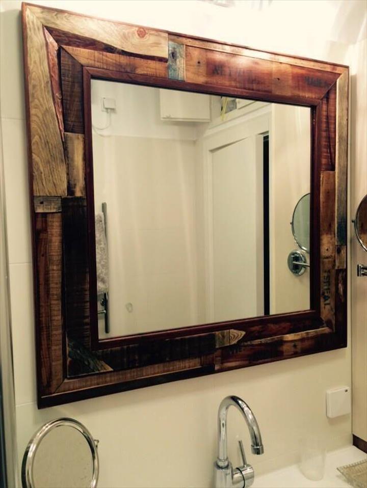 rustic bathroom mirrors. pallet bathroom mirror jpg  720 958 New House Pinterest