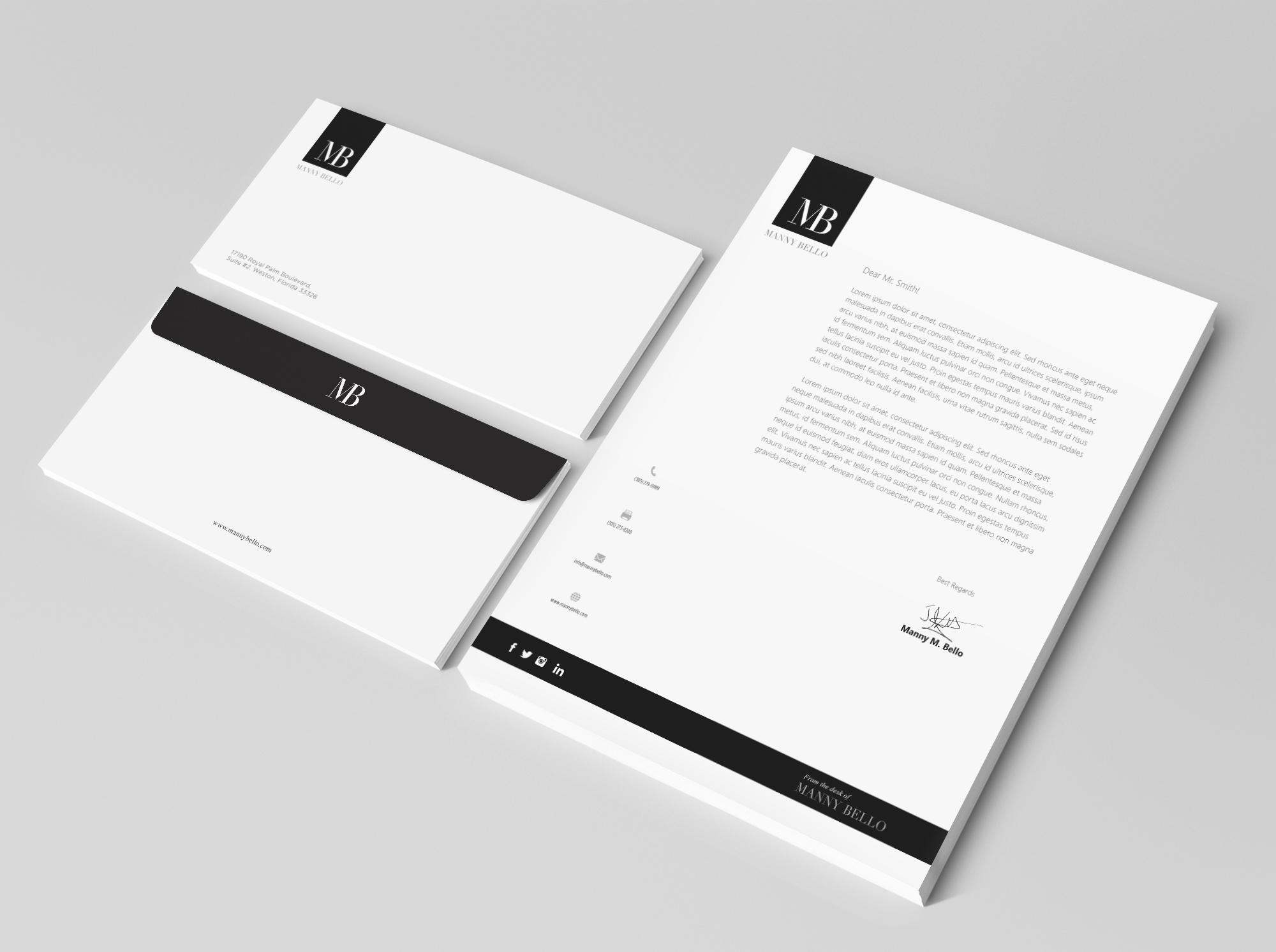 Letter Head Design For Major Ceo Briefpapier X