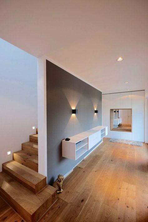 Eingangsbereich Und Flur Gestalten In 42 Beispielen | Interiordecor Designs  | Modern Foyer, Foyer Design, Foyer Decorating
