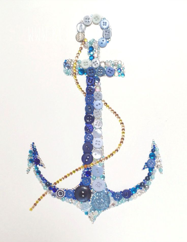 Bijoux Buttons Large Anchor Button Art & by bijouxbuttonsltd