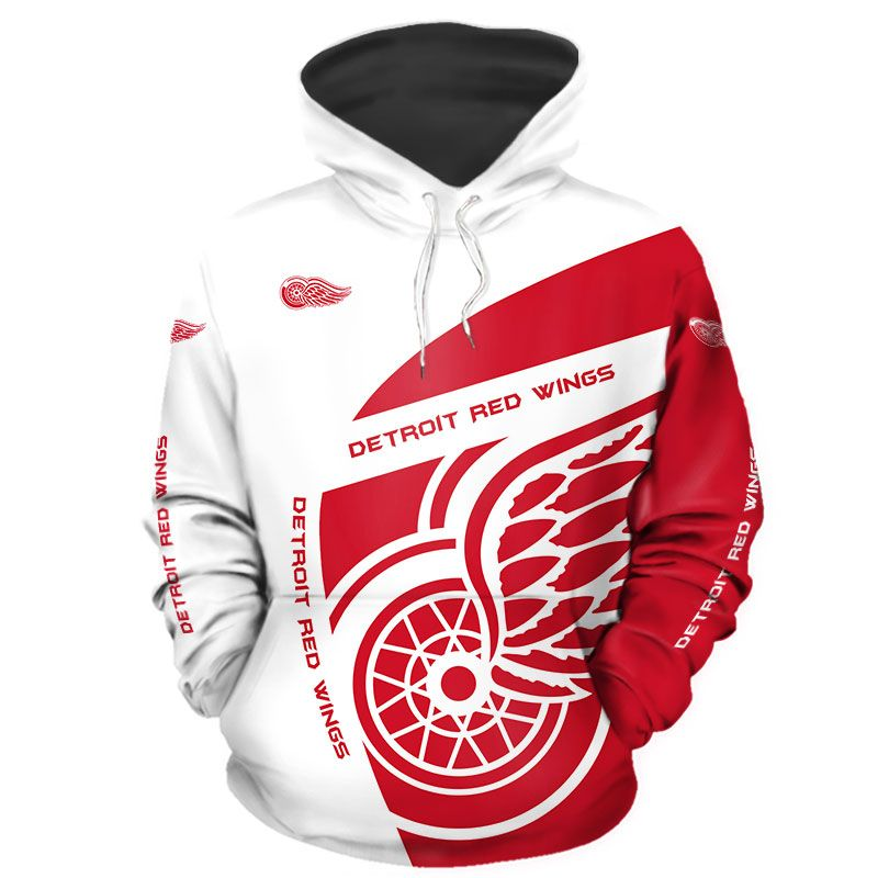 Detroit Red Wings Hoodie 3D With Hooded Long Sleeve gift