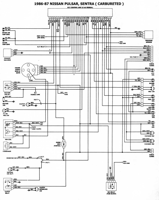 Diagrama Electrico Nissan Tsuru Ii 1 Nissan Sentra Nissan