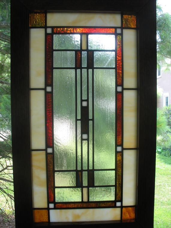 Prairie Craftsman Style Stained Glass Window Stained Glass Stained Glass Windows Craftsman Style