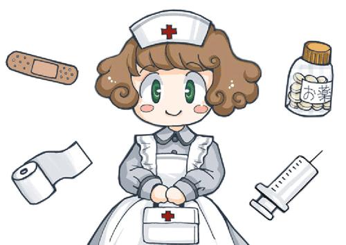 Dibujo De Enfermera Y Jeringa Esparadrapo Para Imprimir