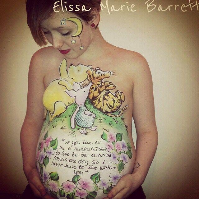 Elissa Barret || Winnie the Pooh belly