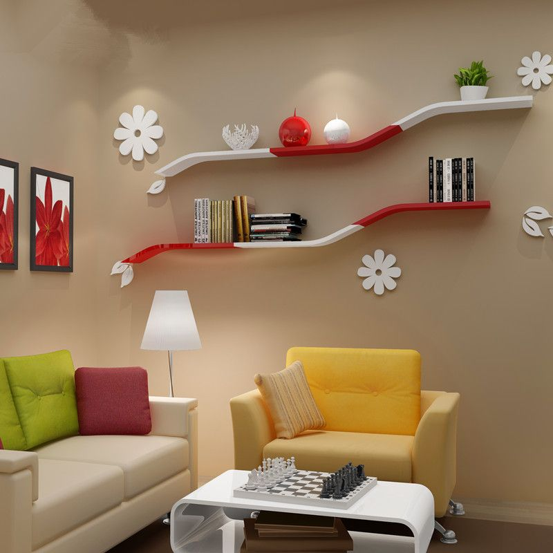 Wall Shelves For Living Room. Simple wall shelf TV living  room furniture