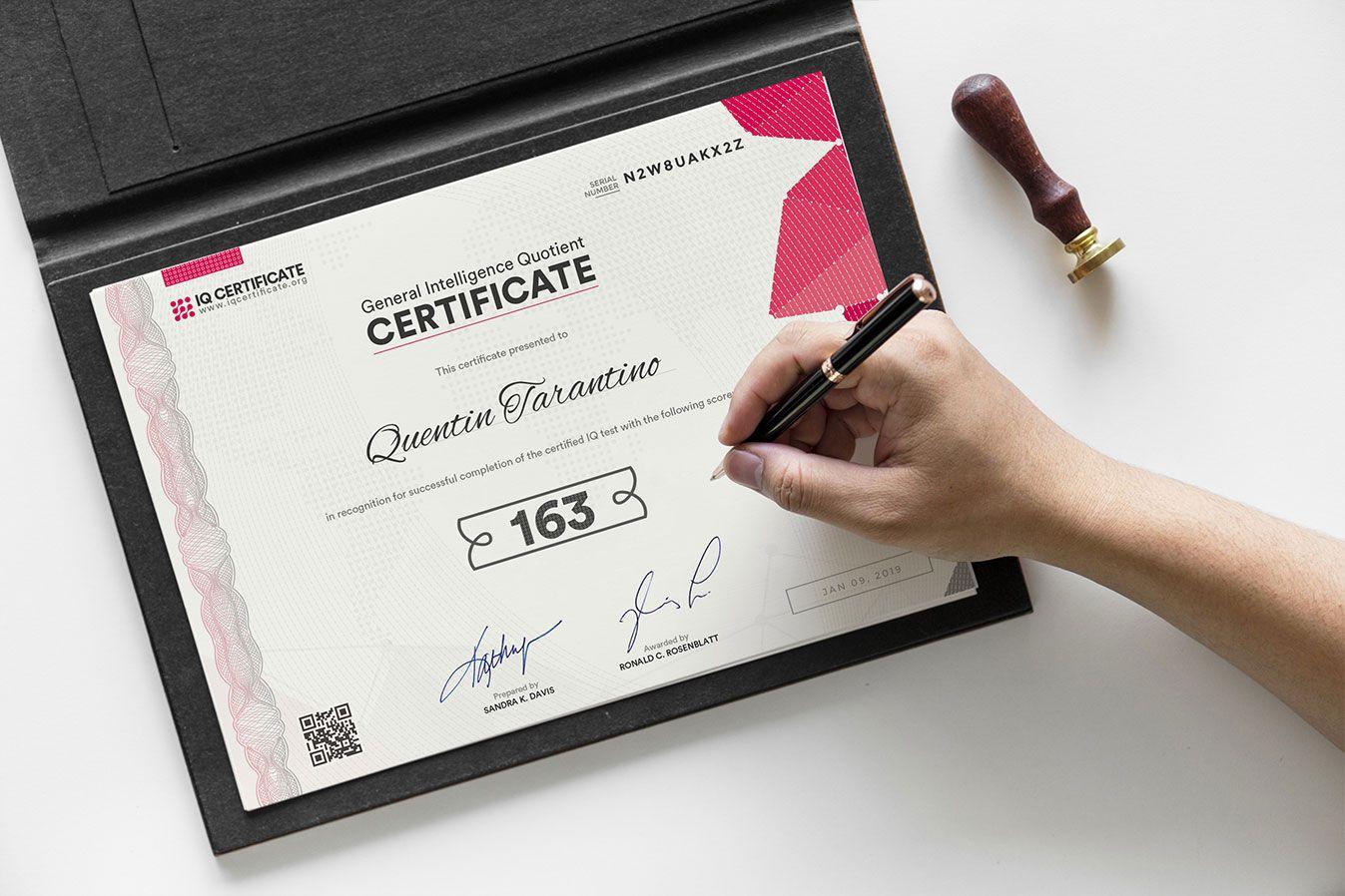 The Interesting Sample Iq Certificate Get Your Iq Certificate