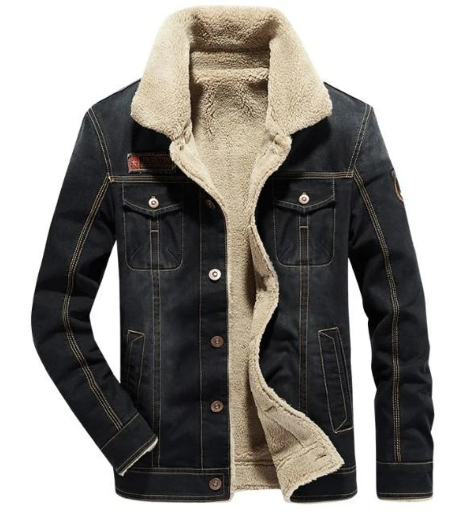 Mens Street Style Denim Winter Jacket Denim Coat Jacket Denim Jacket Winter Denim Jacket Men [ 1024 x 889 Pixel ]