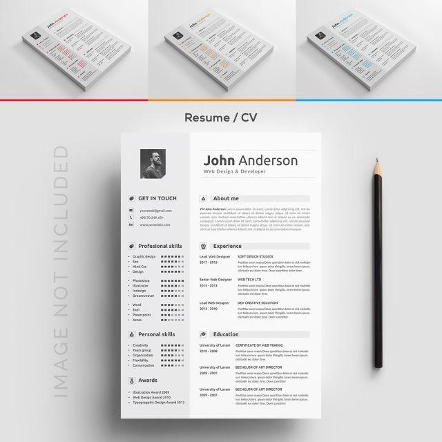 Resume Template #cv #resume #template #curriculum #vitae #design