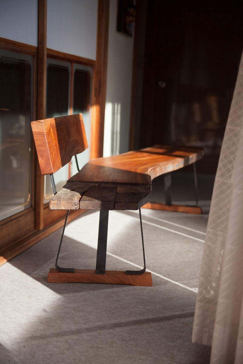 ケヤキ古材のベンチ : HOH Workshop