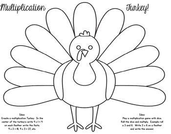 FREE Thanksgiving Multiplication Turkey Activity