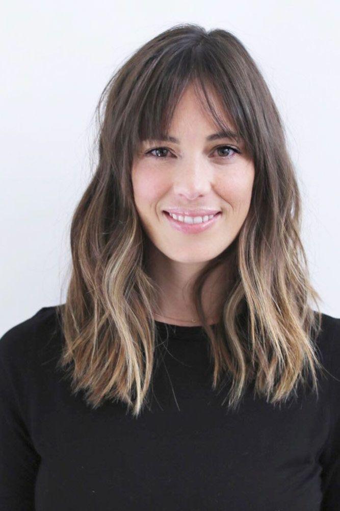 27 cute medium length hairstyles with bangs in 2020
