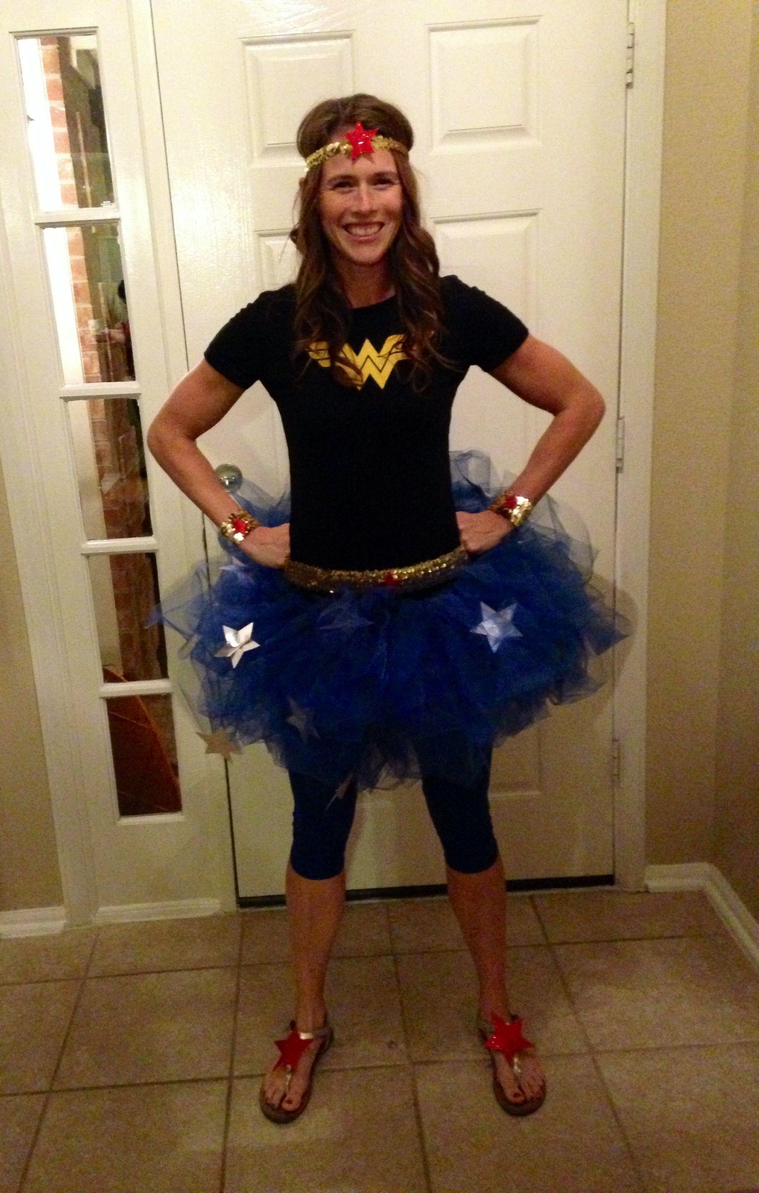 Modest homemade Wonder Woman costume | My pins | Pinterest | Woman ...