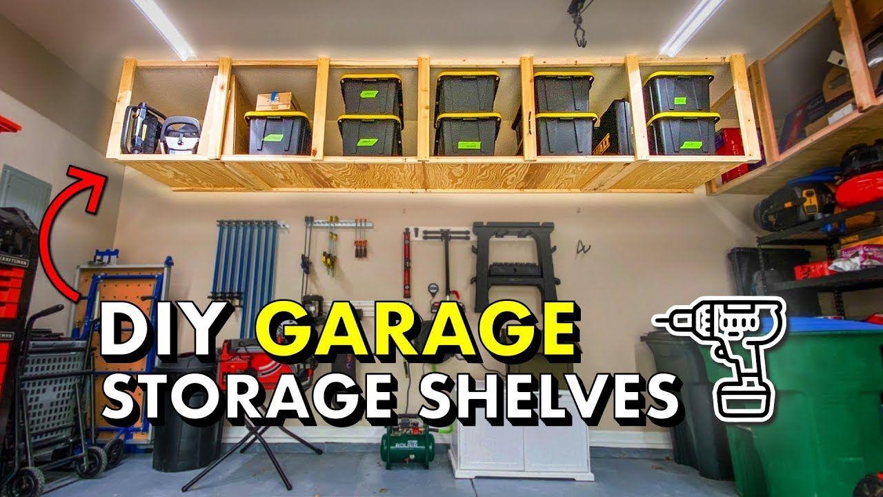 Reclaim your GARAGE w/ DIY Garage Storage Shelves 🚘 FREE