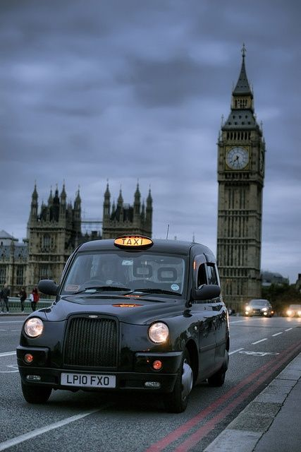 London in a cab (it's quite spacious inside).