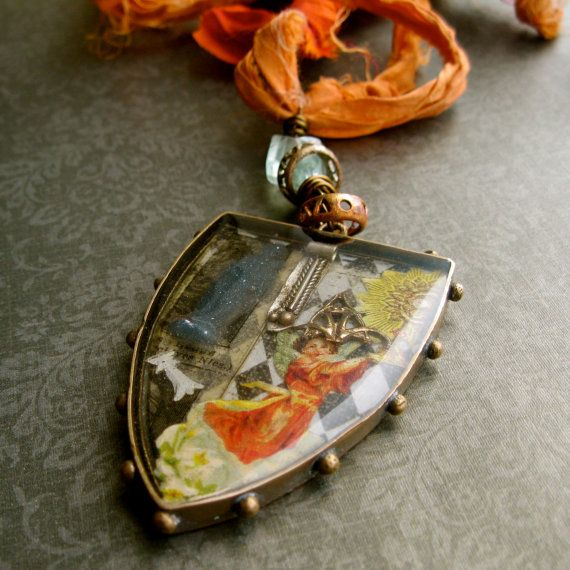 Vintage religious images resin collage assemblage by maxandlucie, $75.00