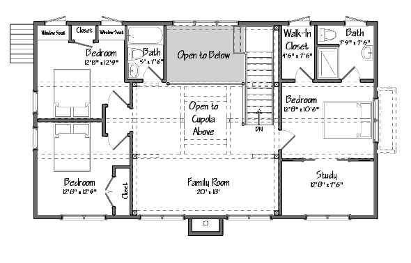 Barndominium Texas · Grantham Lakehouse Level Two Floor Plan
