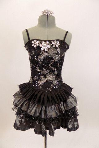 black boned corset dress has grommet and ribbon lace back