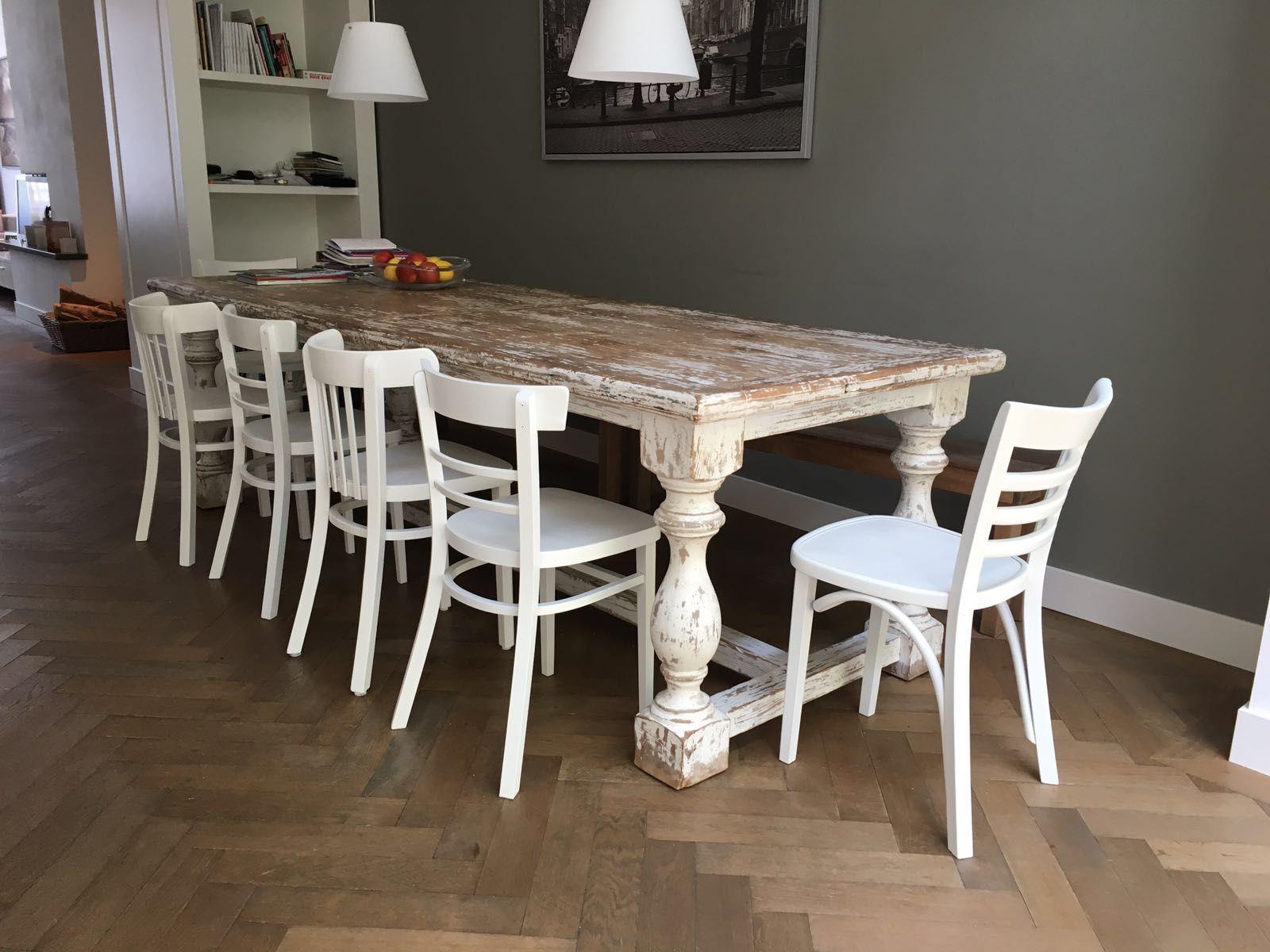 Moderne Keukentafels En Stoelen.Moderne Keukentafels En Stoelen Mix En Match Witte Eetkamerstoelen