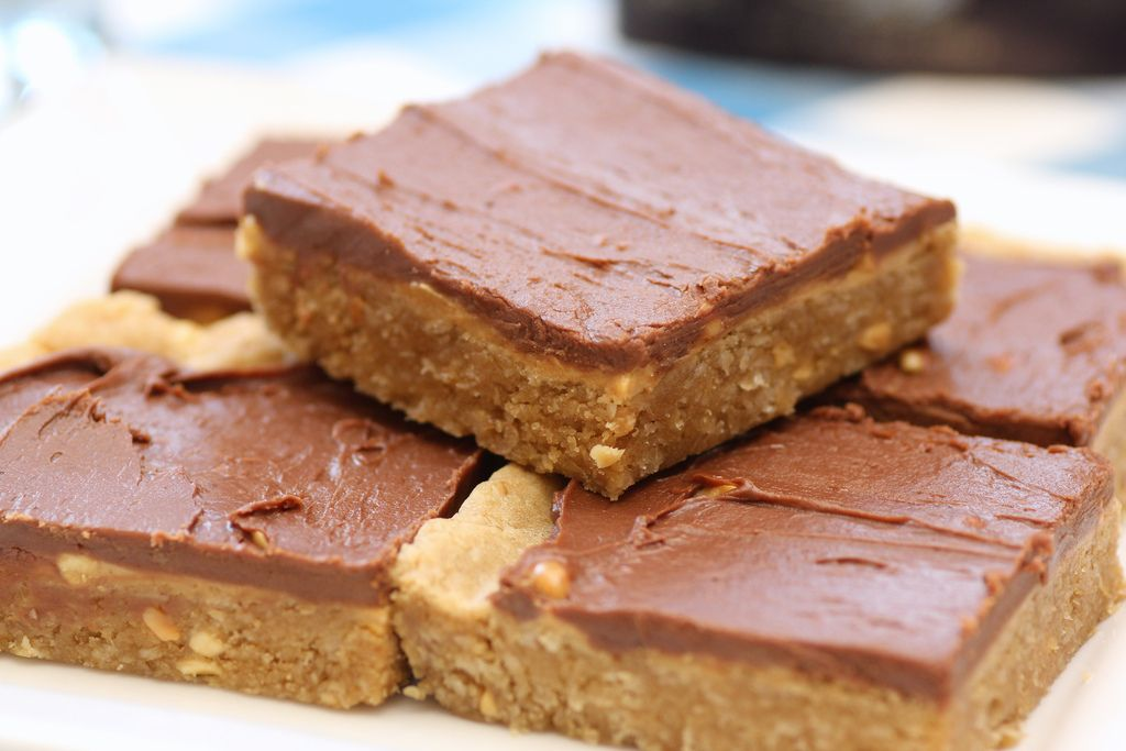 Chocolate-Frosted Peanut Butter Cookie Bars