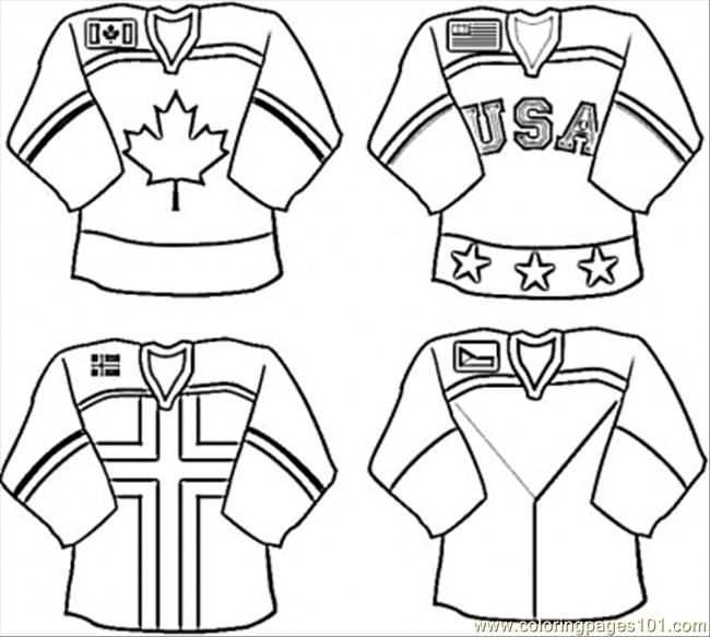 Unifromforhockeyteam Jpg 650 583 Pixelsgreat For Colouring Page